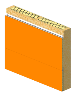 Horizontal panel fitting as insulating weatherboarding